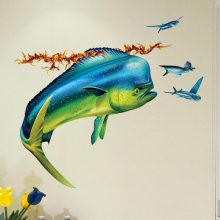 Mahi Mahi Wall Decal Bathroom Decor