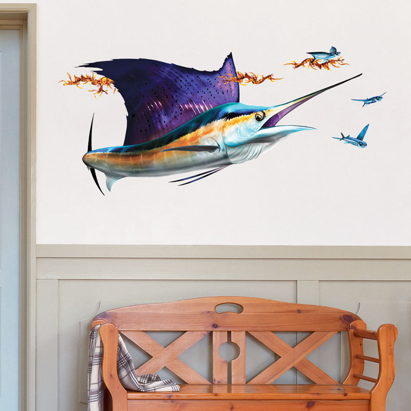 Large Sailfish Decal on Wall
