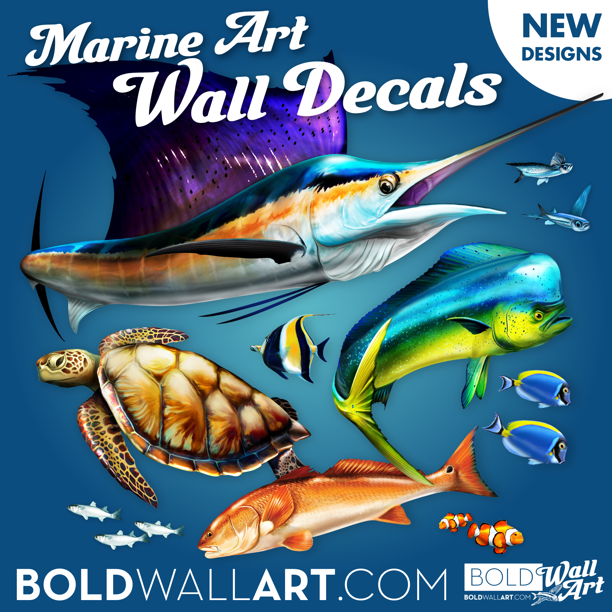 Marine Art Wall Deccals New Products