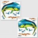 Mahi Mahi Dolphin Dorado Wall Art Sticker Sets