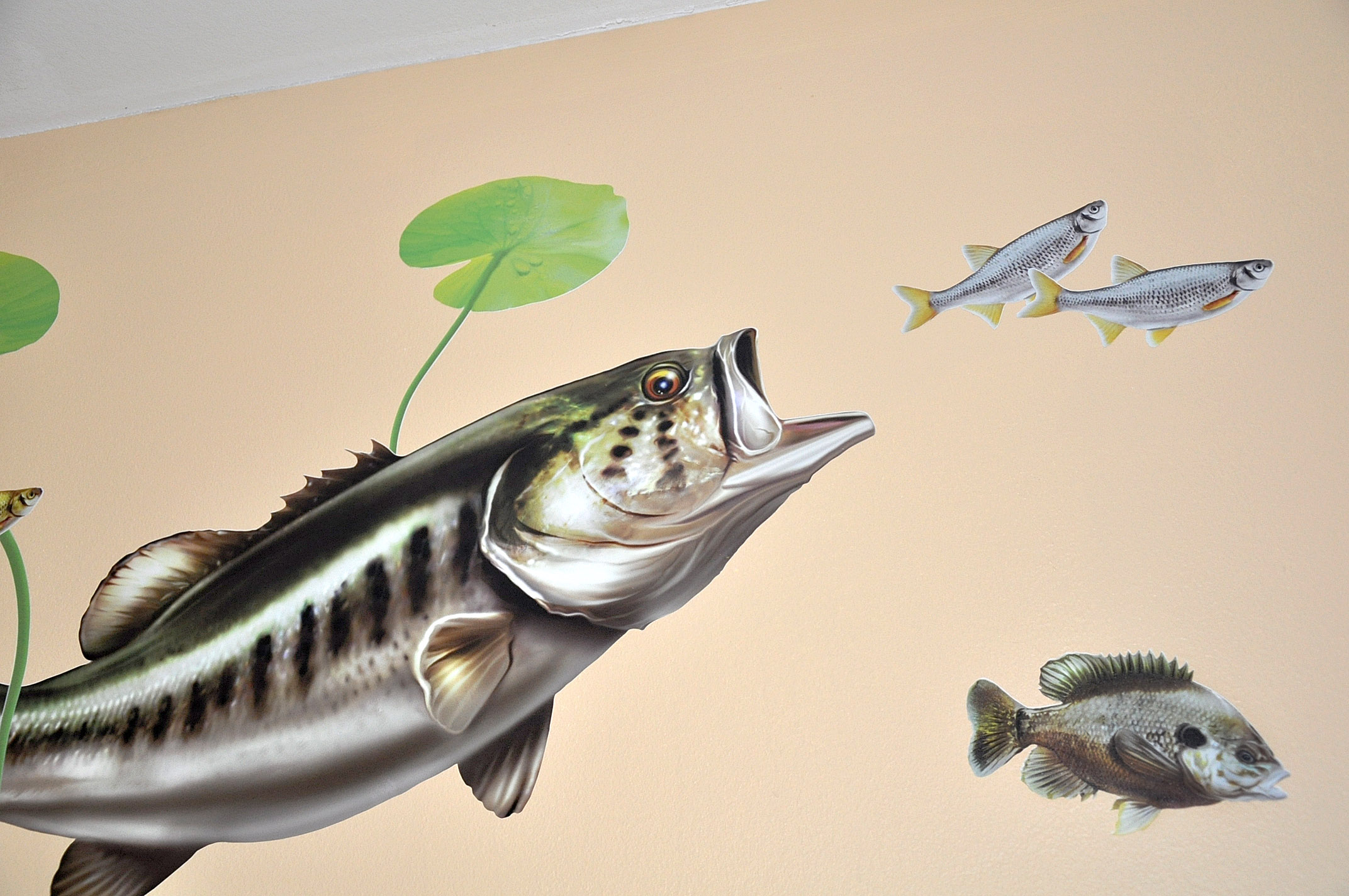 Largemouth bass wall decal bold wall art for Bass fishing decals