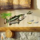 Largemouth Bass Wall Decal over Fireplace