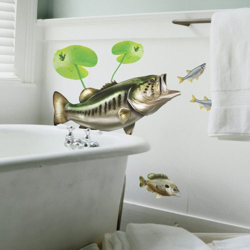 Largemouth Bass Wall Decal Bathroom Decor