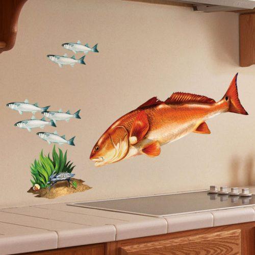 Redfish Wall Art Decal Zoom