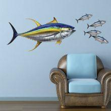 Large Yellowfin Tuna Decal on Wall