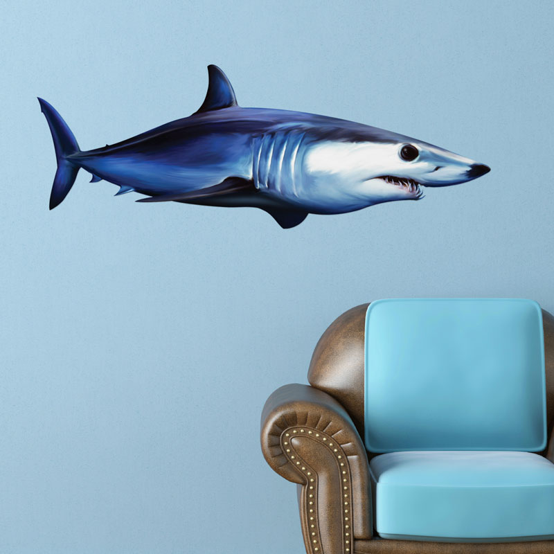 Elegant Shortfin Mako Shark Wall Decal