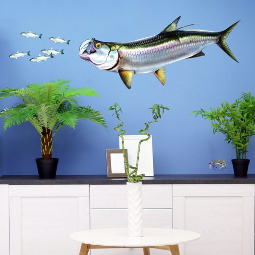 Tarpon Silver King Wall Decal with Mullet